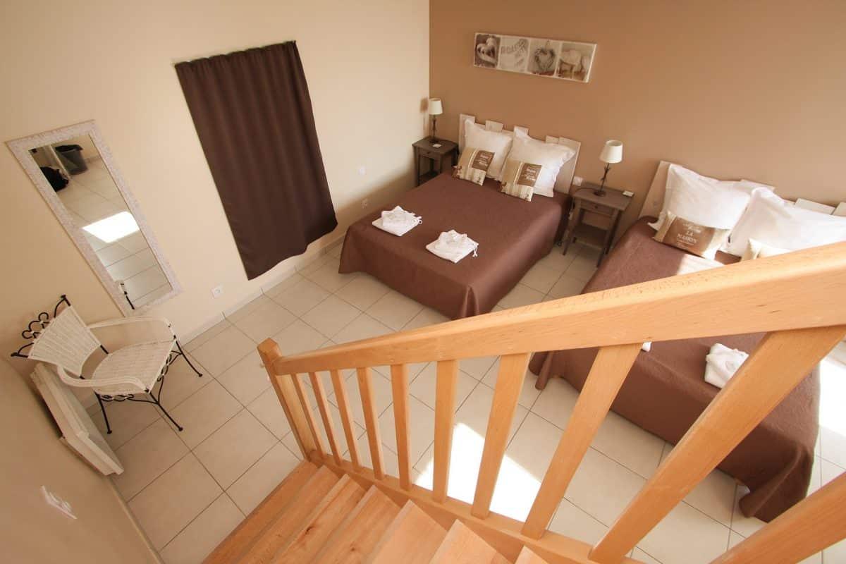 Grande suite de chambres d'hotes avec étage