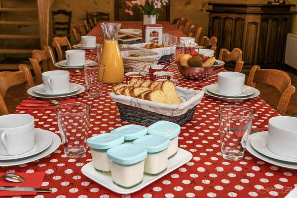Table d'hôtes et petit déjeuner à base de produits maison
