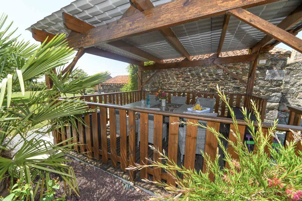 Chambres d'hôtes avec terrasse couverte