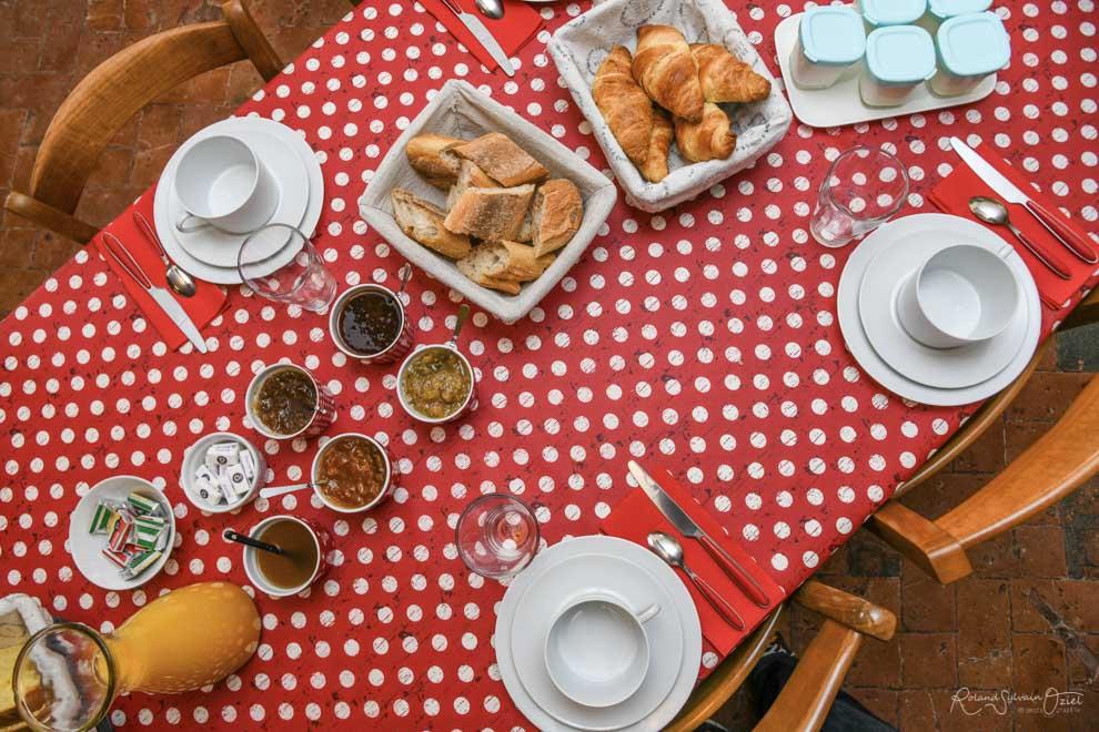 Petits déjeuners avec des produits loca