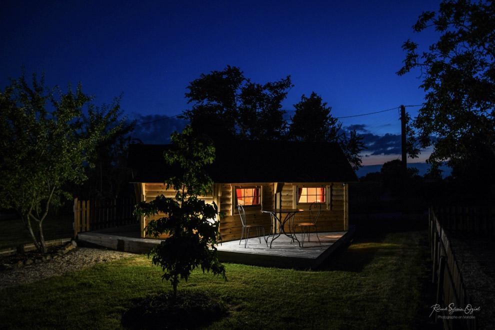 Hébergement insolite en  Vendée photo nocturne