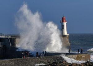 Photo de tempête aux Sables d'Olonne