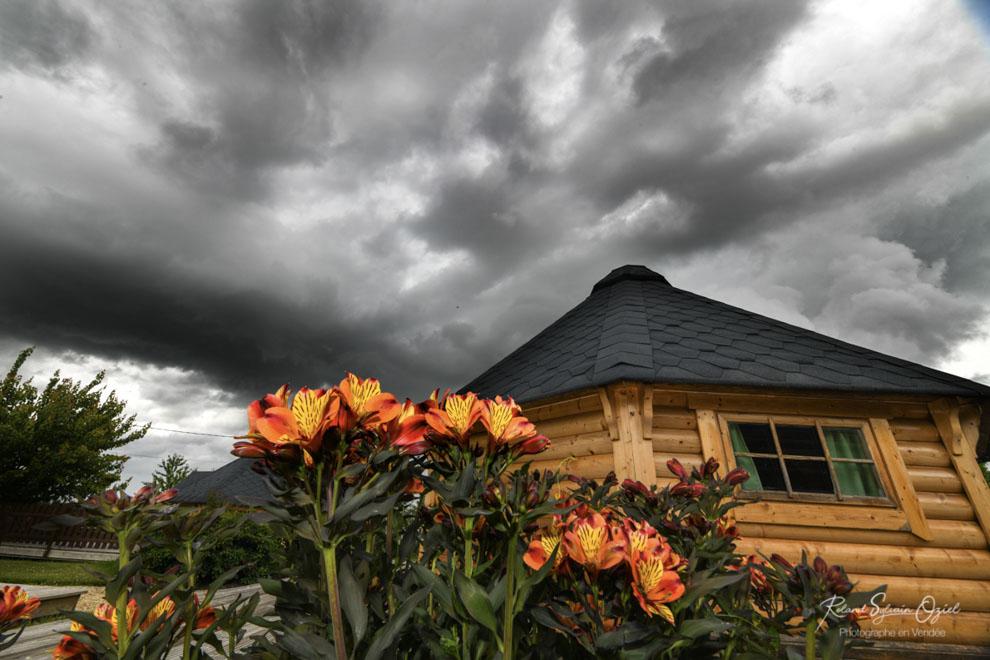 location de vacances avec terrasse couverte
